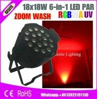 Рождество проектор в помещении плоским led par 18x18 w 6in1 rgbwa уф увеличить par 64 led par может увеличить led light