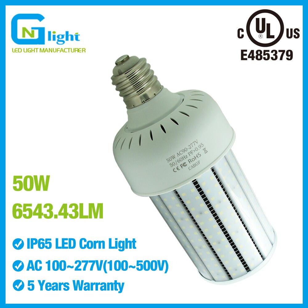 480V 60W LED Corn Light Bulb Replace 250W MH Street Parking Lot Light 6000K E39