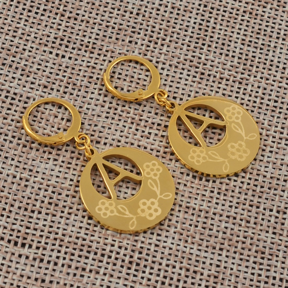 e866f155d ... Anniyo A-Z Gold Color Kiribati Initial Letter Earrings Women English  Alphabet Jewelry Gifts (More Letter