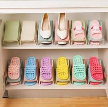 5pcs Fashion shoe rack organizer Plastic shoe Storage Shelf shoe Organizer Holder Space Saver rangement chaussures shoe cabinet