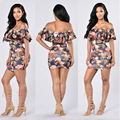 2017 Mulheres Sem Encosto Cortar Pescoço Ruffles Moda Bandage bodycon Mini vestido Sexy Clube lady Casual Vestidos Outono Inverno MC5226