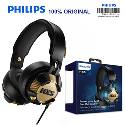 Original Philips SHX50 Professional Headset for Computer Game with USB Plug Blue LED Lights Shine Earphones Official Test