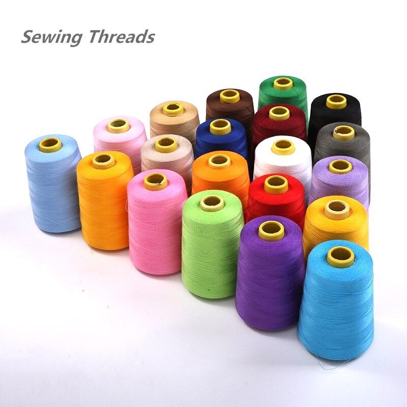 N 8000 Yards Orange Industrial Overlock Sewing Machine Polyester Thread Sewing Line 19 Colors