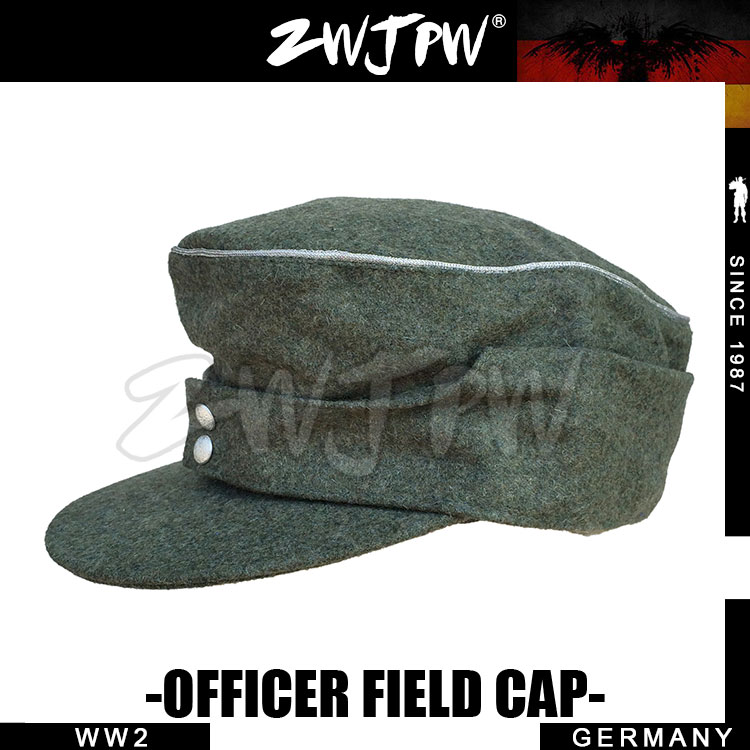 WWII WW2 GERMAN ARMY WH SS ELITE TYPE1943 GRAY WOOLEN CLOTH OFFICER FIELD CAP HAT DE/505128