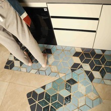 품질 주방 카펫 PVC 가죽 바닥 매트 대형 바닥 카펫 Doormats 침실 다다미 방수 Oilproof 주방 러그