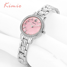 KIMIO Snow Snowflake Pattern Dial Rhinestones Women Watches Gold Bracelet Strap Ladies Top Brand Luxury Womens