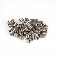 50PCS Threaded Inserts M5 0.8 2D Stainless Steel Wire Helicoil Fasteners Hardware Repair Tools Screw Sleeve Set(China)