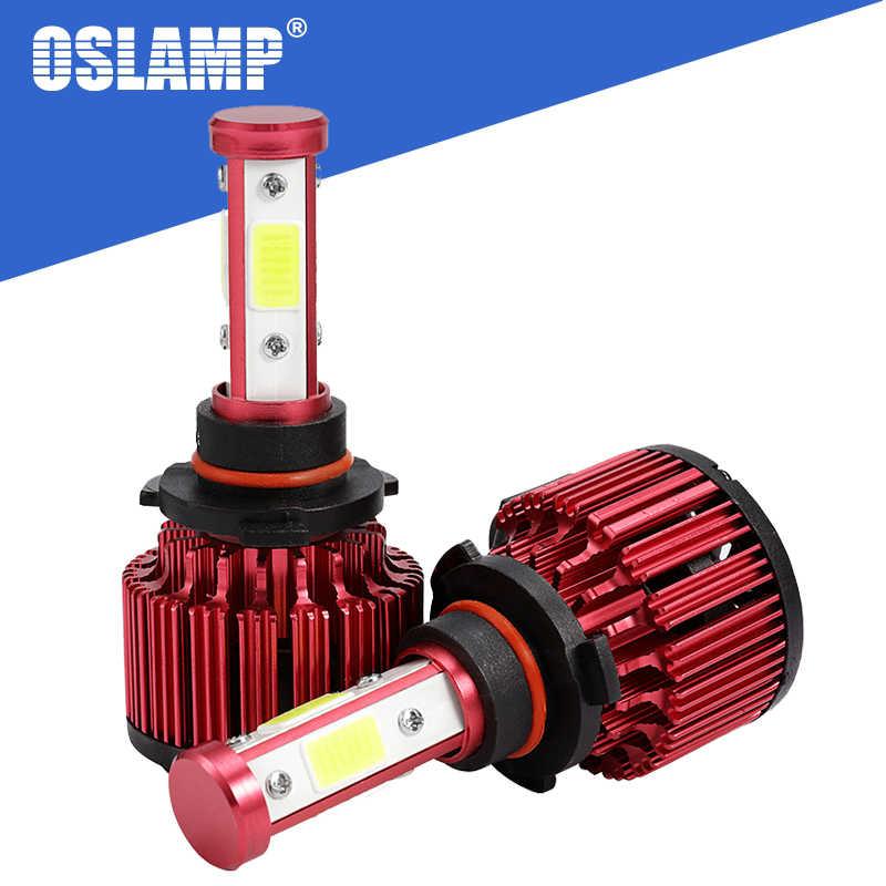 Oslamp 4 Sides 100W H4 LED Headlight H7 H11 9005 9006 9012 5202 Car LED Headlight Bulbs COB 10000lm Auto LED Lamp LED Light 12V