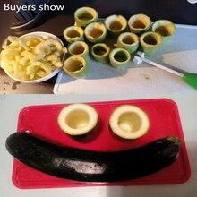 Delidge 4pcs/set Different Size Vegetable Spiral Cutter, Spiral Meat Filling Tool