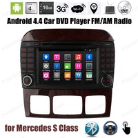 Android4.4 Car DVD Quad Core Support BT 3G WiFi GPS OBDII Mirror Link DTV DAB TPMS For Mercedes S Class 7 inch FM AM radio