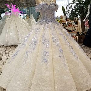 Image 5 - AIJINGYU خمر زي العرائس حديقة ثوب الكمال المشاركة ريفي Frocks وفساتين جذّاب مزين بالترتر فستان أبيض بسيط