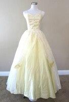 Желтый кружева платье гражданская война костюм ренессанс dress satin dress