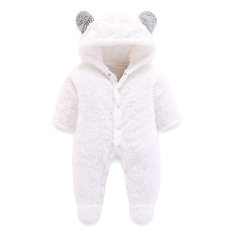 newborn baby girls clothes Hooded pajamas warm winter animal costumes Baby Hooded rompers Bodysuit Baby rompers