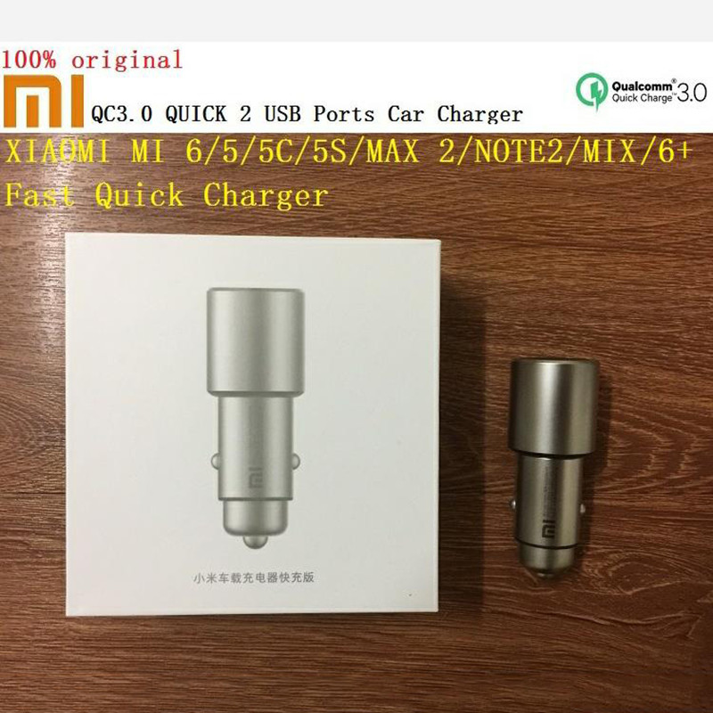 Original Xiao mi 8 Rot mi Hinweis 7 Auto Ladegerät QC3.0 Metall 2 USB ports Dual Schnelle Quick Charge Für mi A2 A1 6 5 MAX 3 2 mi x2s Iphone