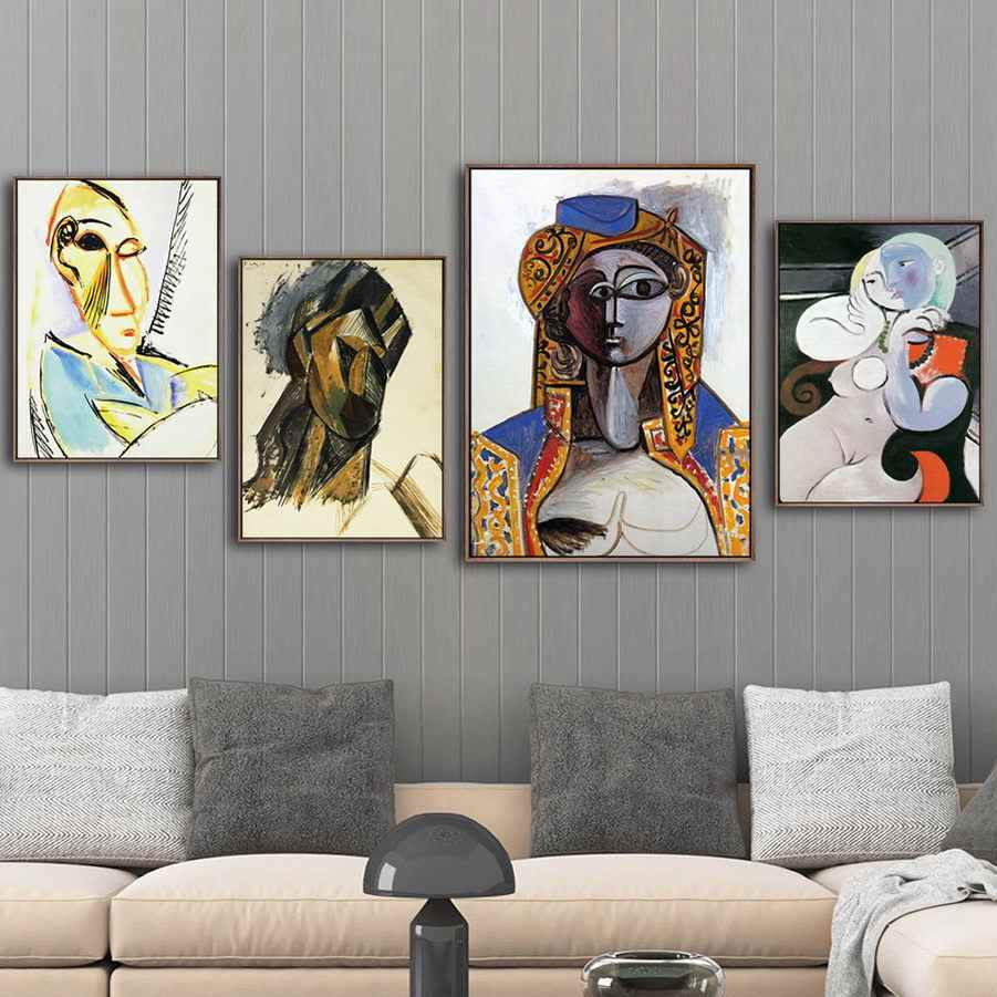 Home Decoration Print Canvas Art Wall Pictures Poster Canvas Printings Paintings Spanish Pablo Picasso A Woman and pears