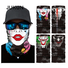 3D Outdoor Sports Riding Seamless Magic Headscarf Clown Skull Sunscreen Neck Mask Hiking Driving Motorcycle