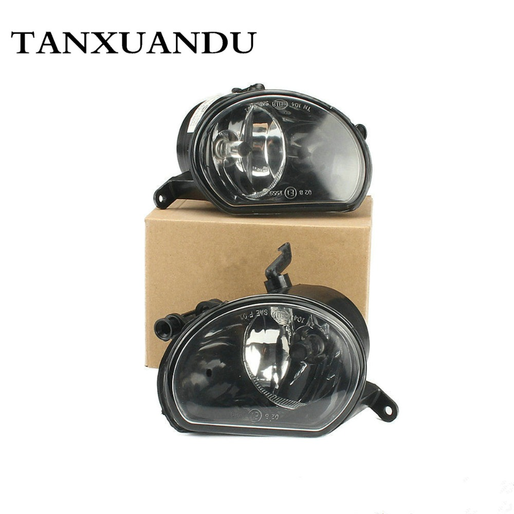 Left Right Front Bumper Lower Clear Halogen Bulb Fog Light Foglamp Assembly Fit For AUDI Q7