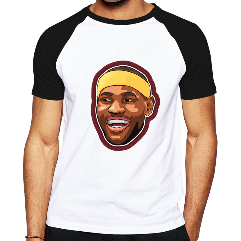 sneakers for cheap e6f90 66b5d US $15.78 |Funny LeBron James T Shirt Laker 23 Number T shirt Cartoon  LeBron Print Tshirt Smile LeBron King Tops Men Clothing Summer Tee-in  T-Shirts ...