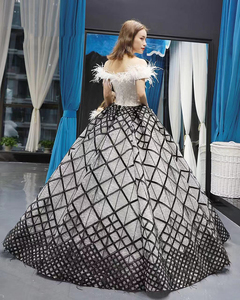 Image 2 - J66758 Jancember Quinceanera Dresses 15 Ball Gown Off The Shoulder Boat Neck Floor Length Prom Dress Vestidos De Quinceaneras