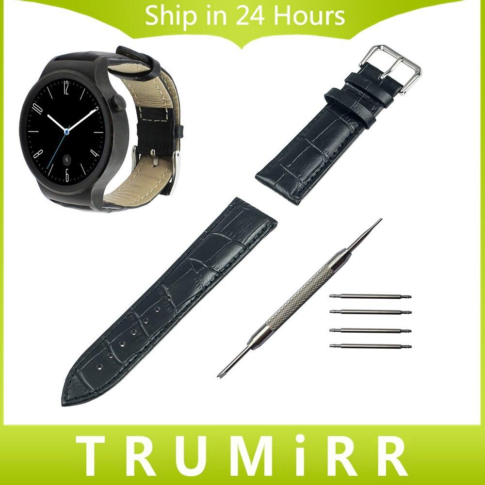 18mm Croco Genuine Leather Watchband for Huawei Watch Asus ZenWatch 2 WI502Q 45mm Women's 2015 Smart Watch Band Strap Bracelet
