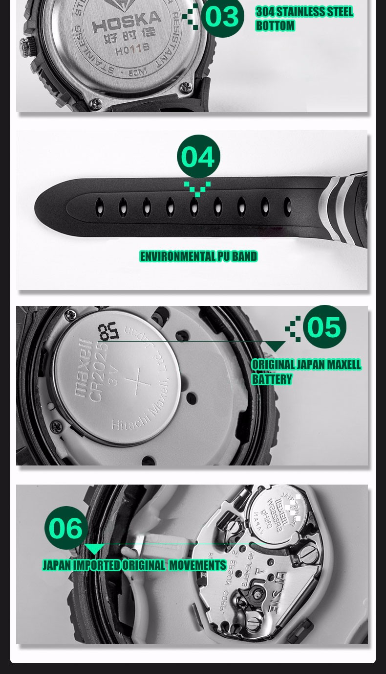 quartz Digital Watch