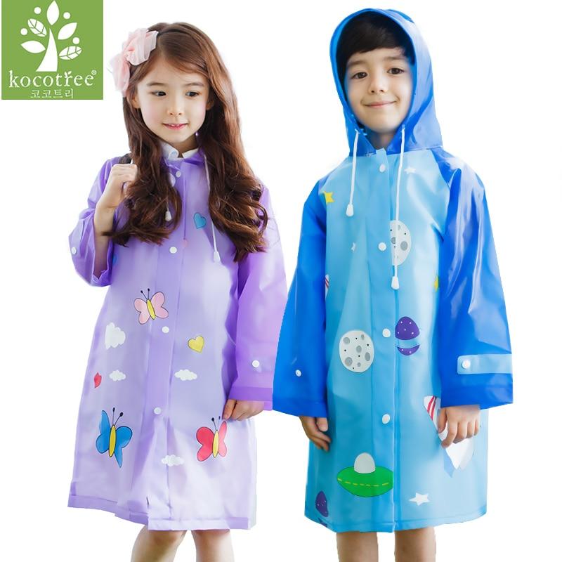 New fashion unisex children waterproof kids boys girls jumpsuit raincoat hooded Rain Coat Waterproof Hiking Rainwear