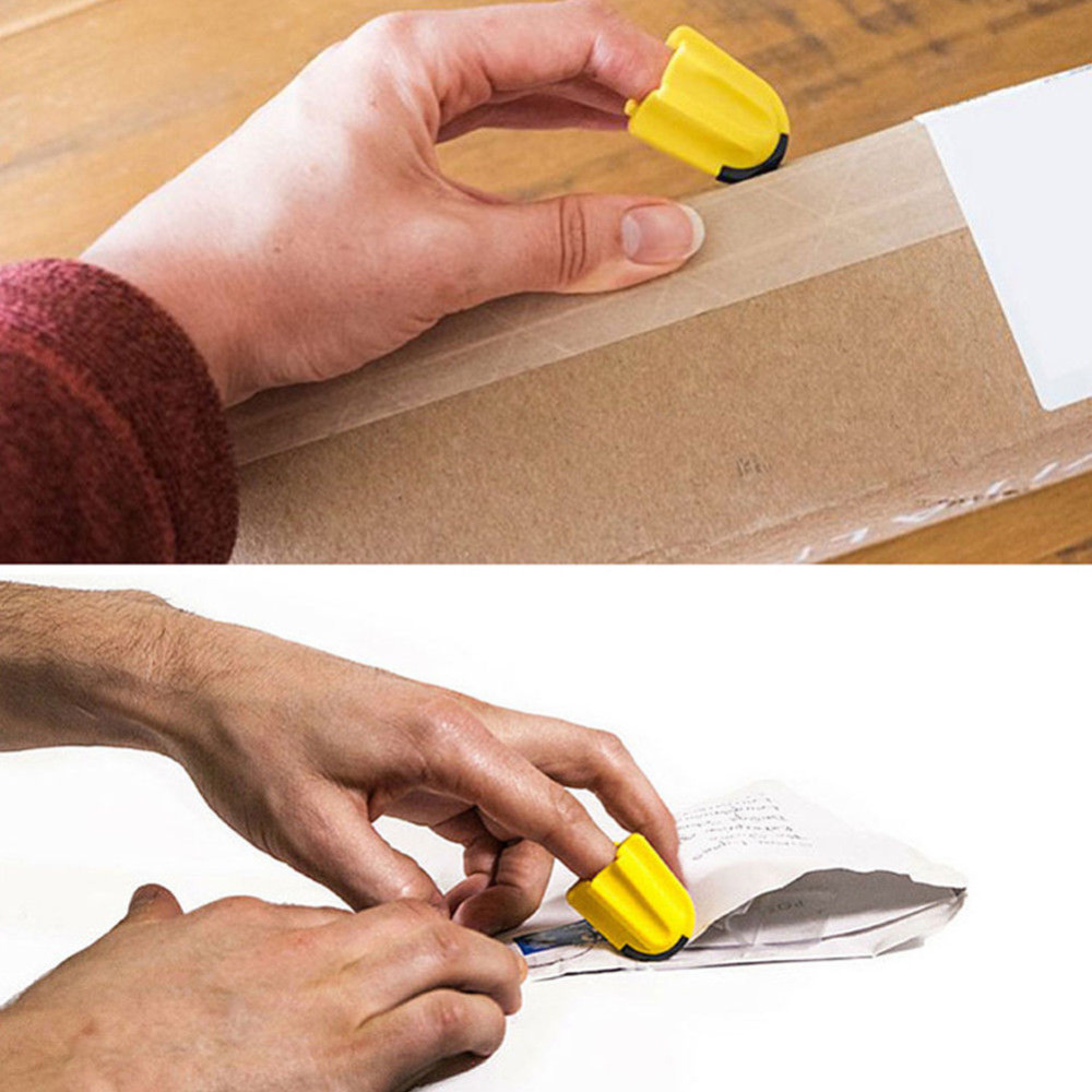 1PCS Tool Finger Cutter Utility Knife Safety Home Durable Silicone Office Package Letter Parcel Opener Carton Quick