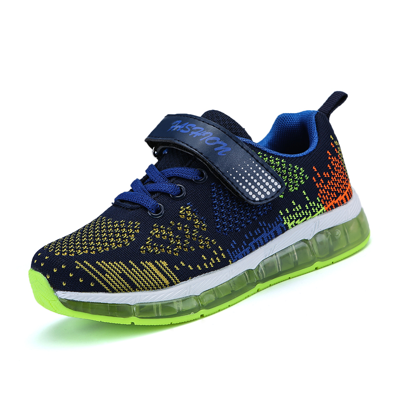 STRONGSHE 28-35 Size/ USB Charging Basket Led Children Shoes With Light Up Kids Casual Boys&Girls Luminous Sneakers Glowing Shoe