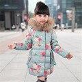 Winter Jacket For Girls Hooded Flower Girls Parka Kids Winter Coats For Padded Jacket  Girls Fashion Children's Outerwear