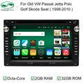 GreenYi Cota Core Android 6.0 2 DIN Car DVD Multimedia for VW JETTA GOLF MK5 MK6 GTI PASSAT B6 POLO SKODA Fabia GPS Navigation