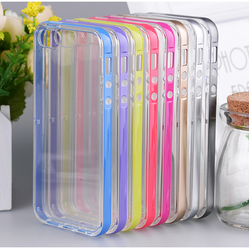 ▻Iteuu 6 6 s colorido PC Marcos + TPU para iPhone 6 6 s Carcasas ...