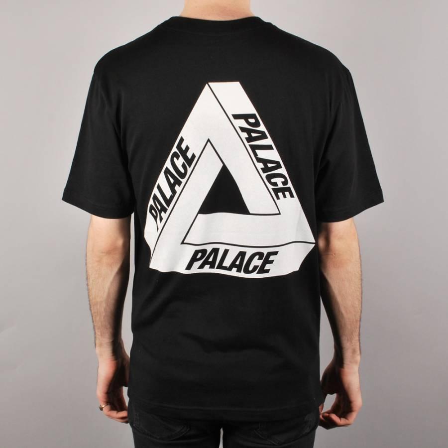 2017 Palace Skateboards Classic Triangle Print T shirt Mens Basic Summer Noah Clothing Hip Hop Tops