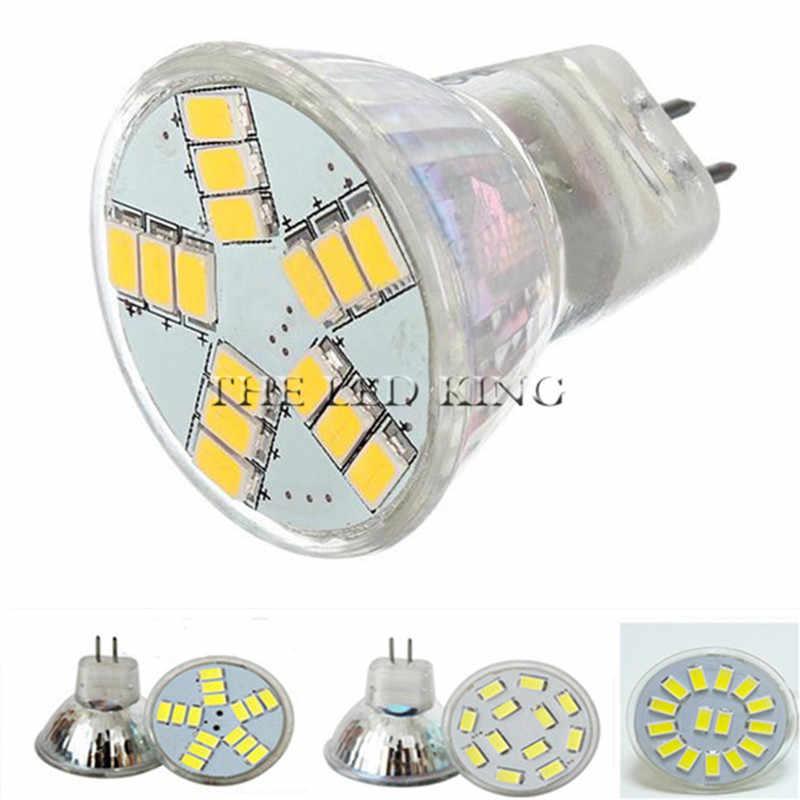 Nowy 12 V AC/DC 5730 MR11 żarówka LED 5W 7W LED GU4 lampa światła lampy cristal mr11 luces