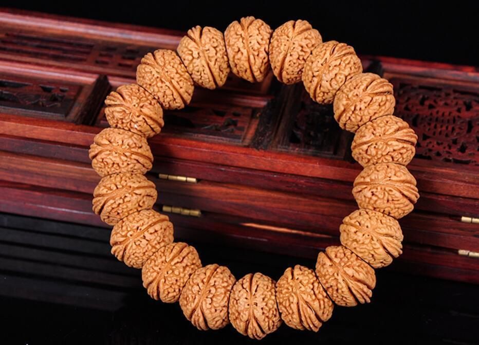 Koraba Fine Jewelry Scarce Beauty Peach Pit Phoenix Eyes Bodhi Bead Tibet Buddhism Amulet Bracelet Free Shipping peach pit shugo chara 4