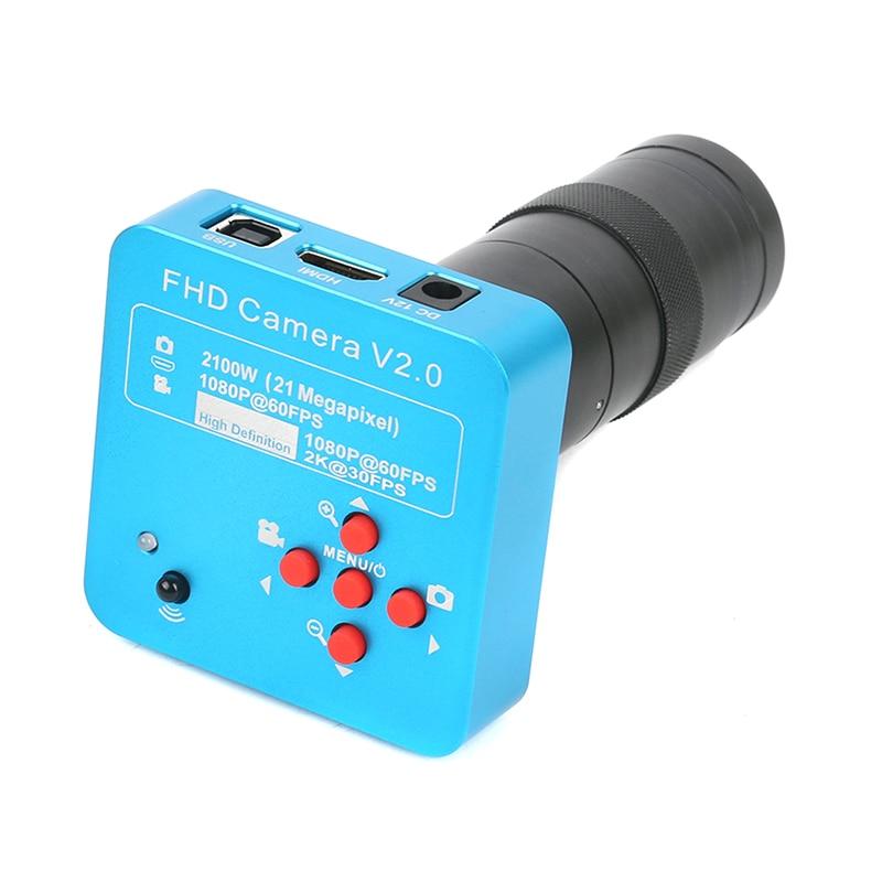 Full HD HDMI USB Industry Microscope Camera 21MP 2K 1080P 60FPS 130X 180X 300X C Mount
