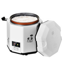 1.2L mini rice cooker small 2 layers Steamer Multifunction cooking Pot Electric insulation heating cooker 1-2 people EU US цена и фото