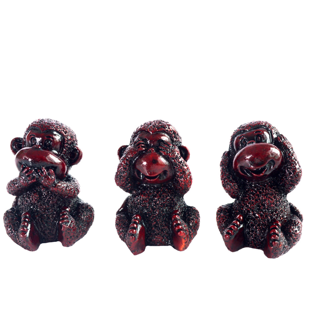 Heard No Evil, See No Evil, Speak No Evil Set de 3 monos J2228