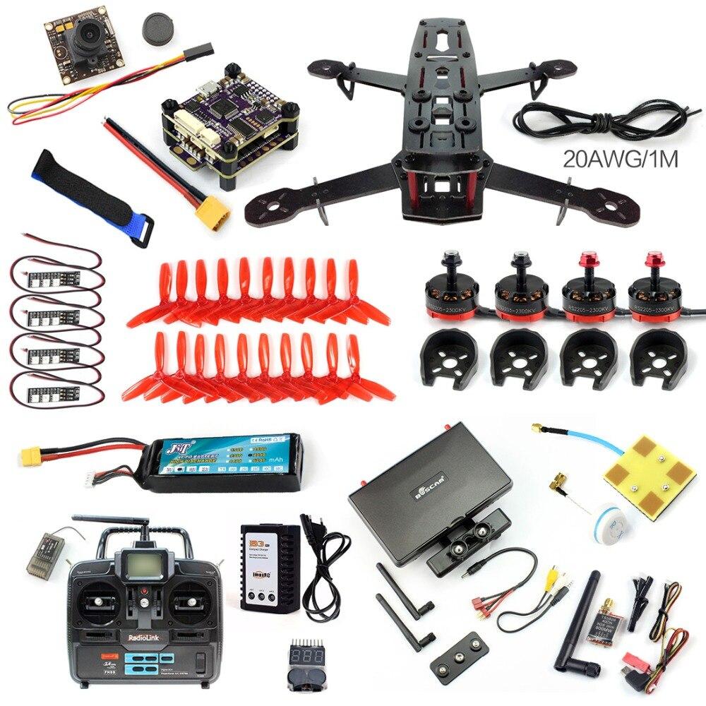 DIY Full kit RC 250 FPV Racer font b Drone b font 4 Axle Glass Fiber