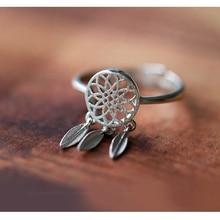 Fashion Dreamcatcher Bohemian Knuckle Rings for Women Gold Hollow Feather Stainless Steel Ring Adjustable Jewelry Anillo мадунц александра игоревна дело о потерянных пуантах