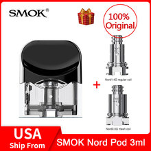 Original SMOK Nord Replacement Pod Cartridge 3ml with Nord Coils For SMOK NORD Pod Kit For electronic cigarette smok nord vape nord nord drs 500