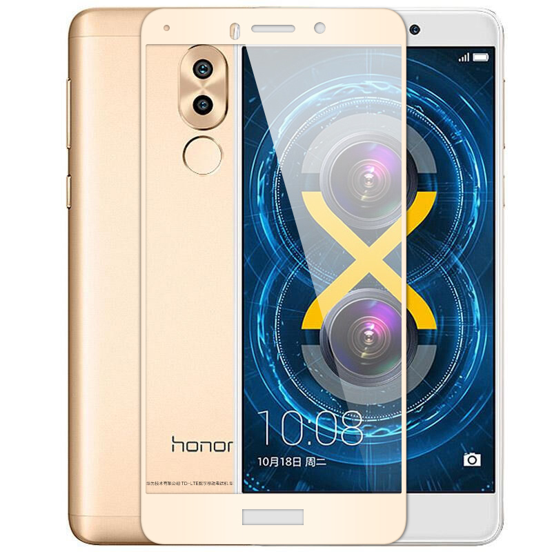 MAKAVO For Huawei Honor 6X Tempered Glass 2.5D Full Cover Screen Protector Armor Film For Honor 6X