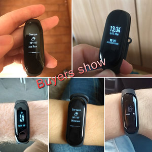 Image 4 - Bracelet Original Xiao mi bande 3 Smart mi bande 3 Bracelet OLED Touchpad Message instantané identification de lappelant moniteur de fréquence cardiaque