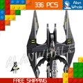 336 unids bela 7112 dc comics batman gotham batwing batalla luchador modelo building blocks acción juguetes compatible con lego