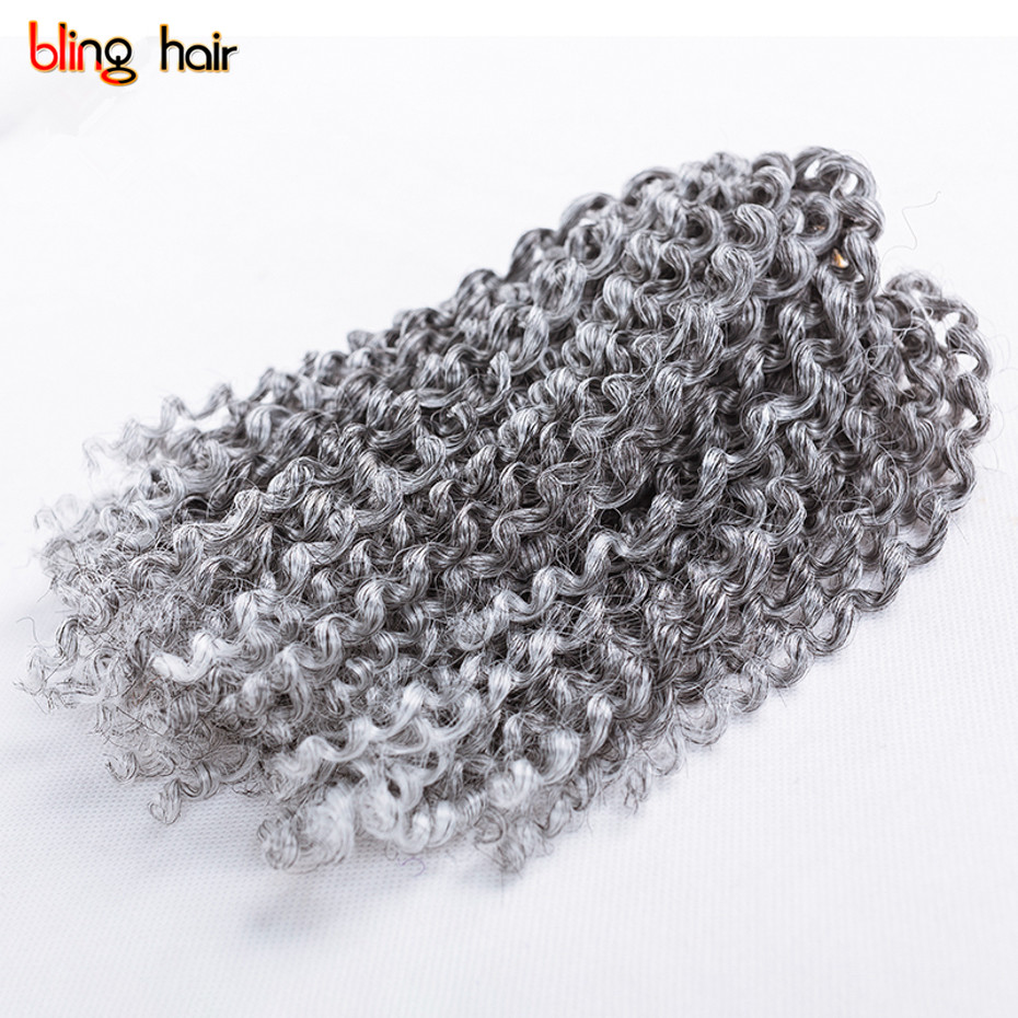 Bling Hair 8 Inch Synthetic Fiber Braiding Hair Extensions in 3pcs/Set Ombre Colors Malibob Curly Twist Crochet Braids Hair