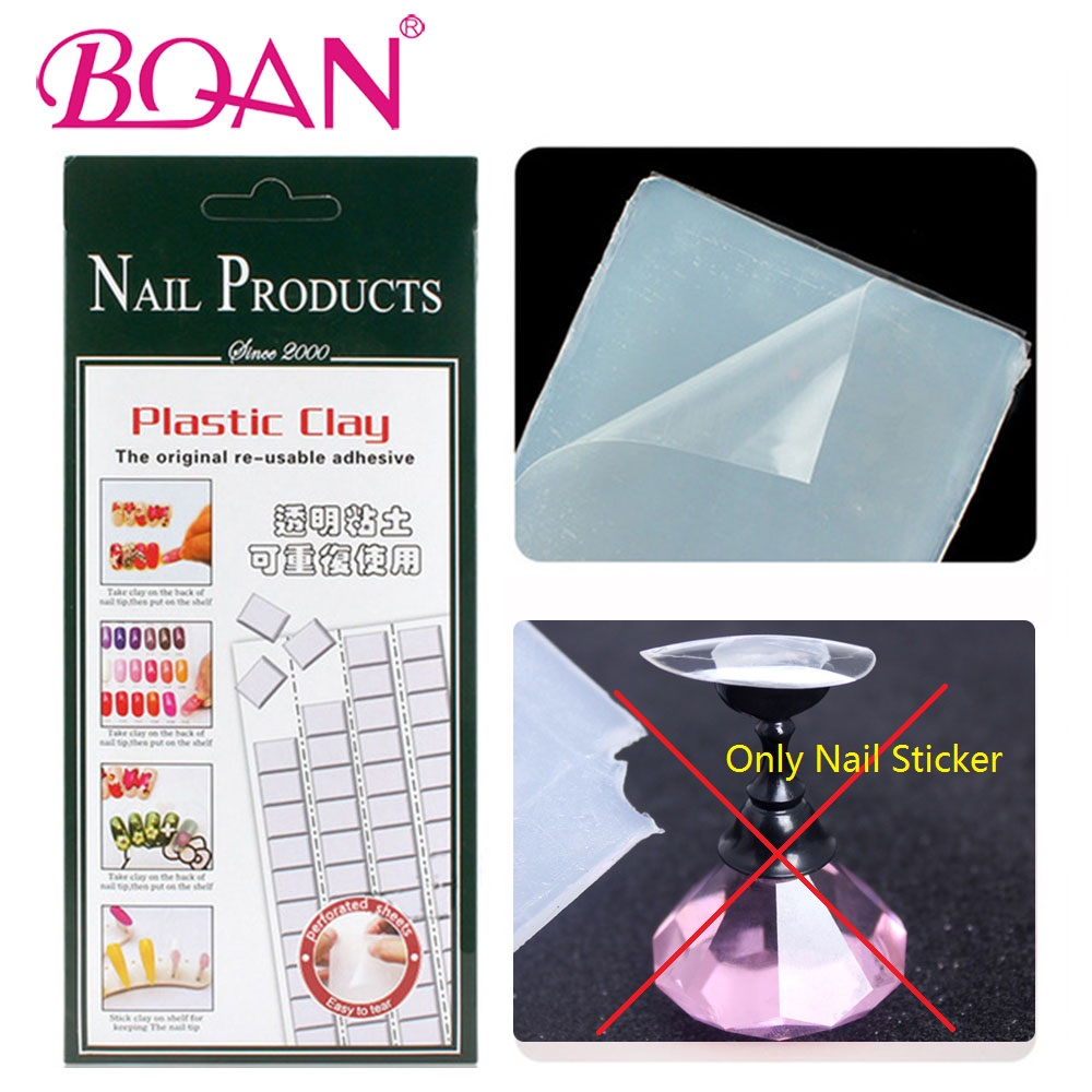 BQAN Nail art Tack-It Multi-Purpose Adhesive Glue Clay Stick For Manicure Pedicure Uv Gel Polish Display Board Diy Nails diy 3d gold silver transparent mini caviar beads gel polish nail art tips charm metallic pearl ball pro manicure pedicure