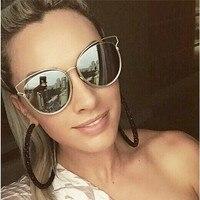 Luxury Cat Eye Sunglasses Women Brand Designer Points Sun Glasses Women Female Ladies Sunglass Vintage Mirror
