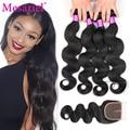 7A Grade Brazilian Body Wave With Closure 4 Bundle Brazilian Hair Weave Bundles With Closure Cheap Human Hair Weave With Closure