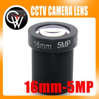 HD 5mp 16mm obiektywy kamery przemysłowej IR Board 1 1 2 #8222 m12x0 5 widok 50m dla kamery IP bezpieczeństwa tanie i dobre opinie CW5MP16M Chuan Wei Brak