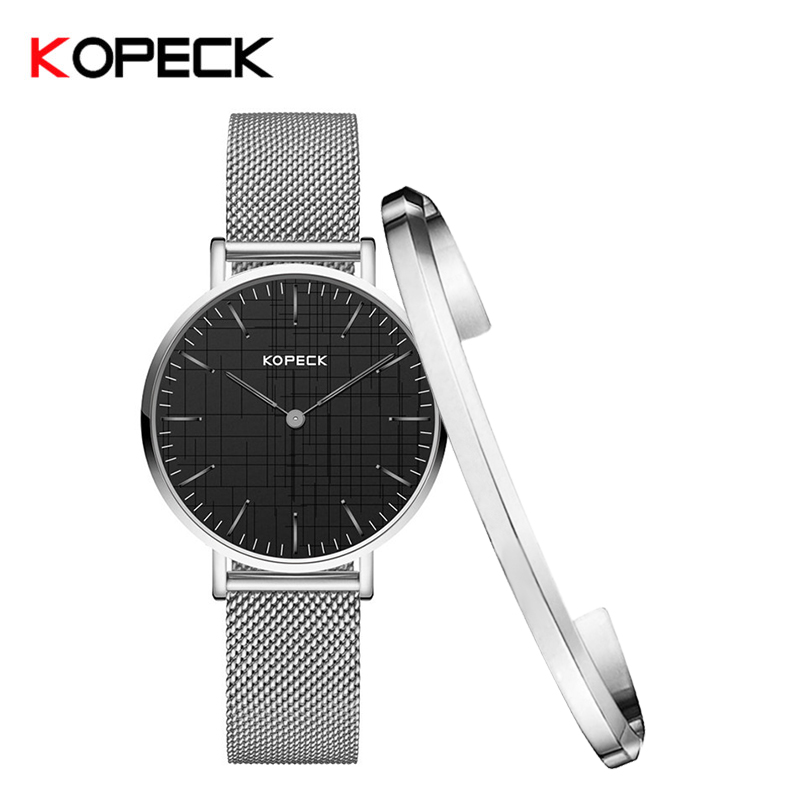 KOPECK Watch Fashion Models Schoolgirl Casual Quartz Watch Milan Stainless Steel Mesh Girls Watch With Bracelet GB-6003LM