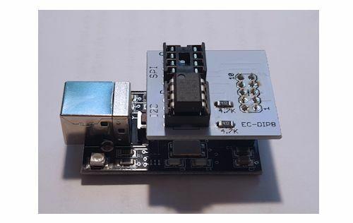 Programmeur de mémoire EEPROM Flash SPI et I2C avec adaptateur de prise DIP8 (USB 2.0)